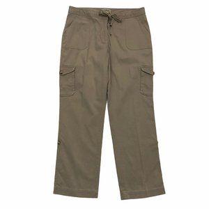 L.L.BEAN Women's Favorite Fit Cargo Khaki Pants 14